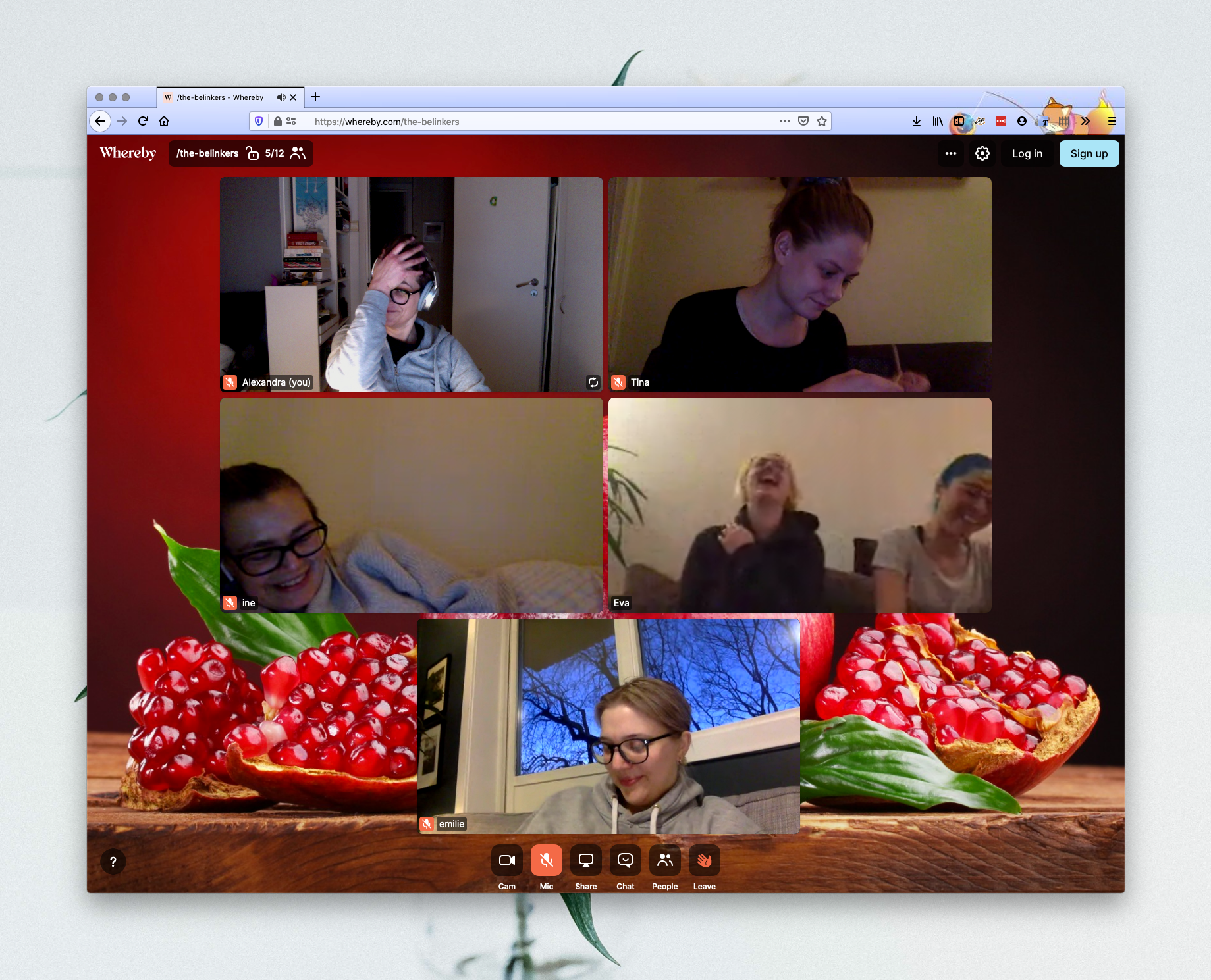 Video call with coworkers